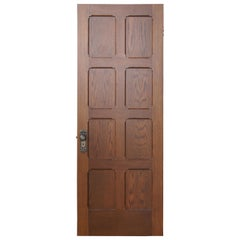 Vintage Reclaimed Spanish Revival Solid Oak Eight Panel Door