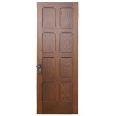 Vintage Reclaimed Spanish Revival Solid Oak Panel Door