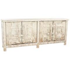 Vintage Reclaimed Wood Asian Buffet Sideboard