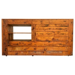 Vintage Reclaimed Wood Sales Retail Counter