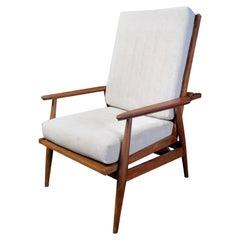 Vintage Reclining Armchair in Walnut