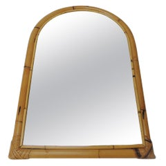 Vintage Rectangular Bamboo Mirror