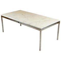 Vintage Rectangular Marble Coffee Table by Florence Knoll, 1960s Midcentury