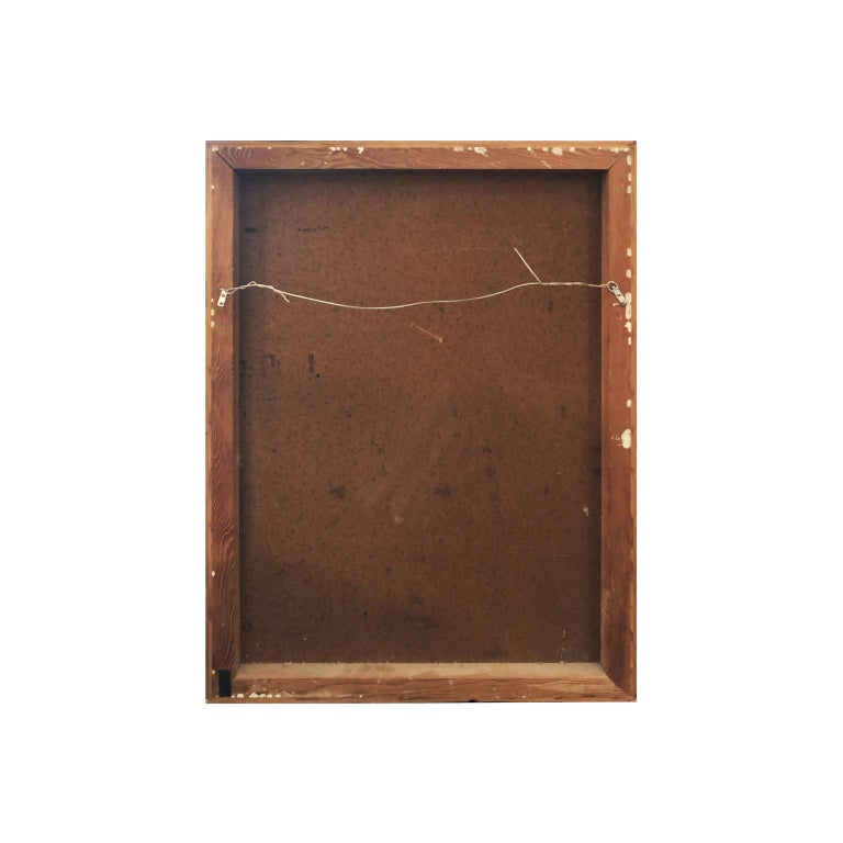 Vintage Rectangular Mixed-Media Abstract in Earth Tones and Gold by John Kiraly In Good Condition For Sale In New York, NY