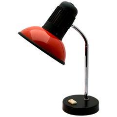 Vintage Red Adjustable Desk/Side Table Lamp by Massive, 1970s