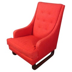Vintage Red Armchair in the Style of Adrian Pearsall