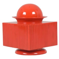 Vintage Red Ceramic Box by Sergio Asti for Cedit, 1970s