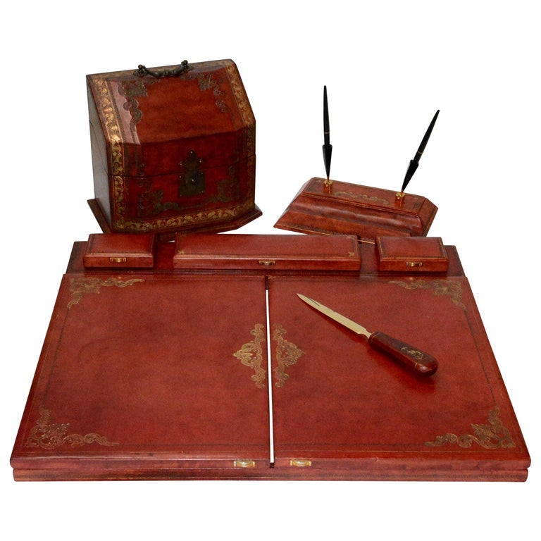 Italian Leather Desk Accessories