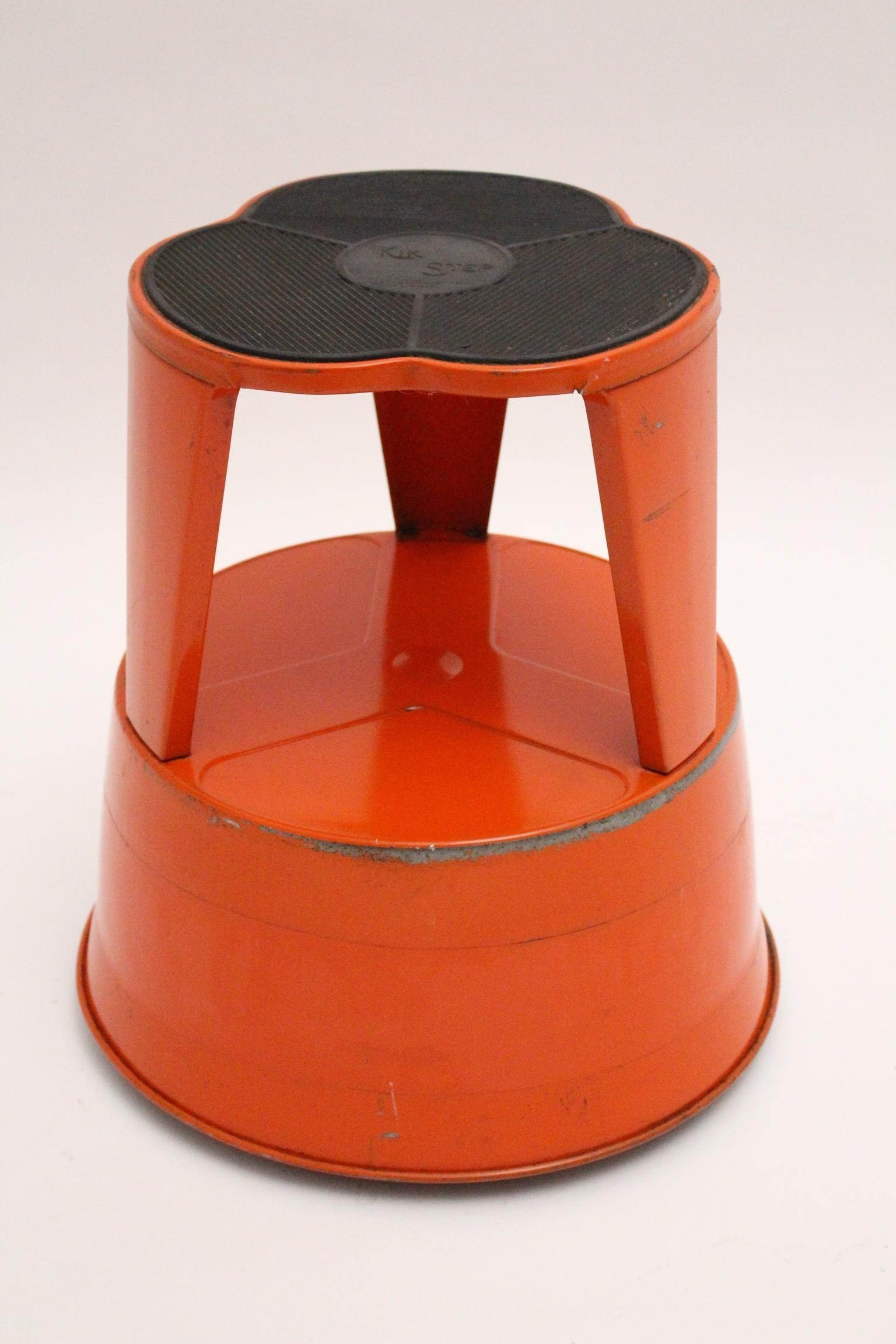Pleasing Vintage Red Metal Kik Step Stool By Marc Adnet Blanc Mesnil France 1970S Ncnpc Chair Design For Home Ncnpcorg
