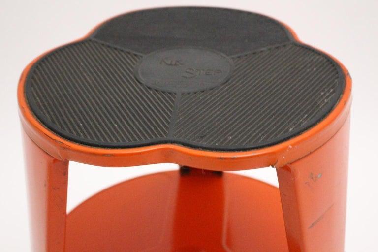 Superb Vintage Red Metal Kik Step Stool By Marc Adnet Blanc Mesnil France 1970S Ncnpc Chair Design For Home Ncnpcorg