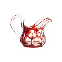 Vintage Red Milk Jug, Late 20th Century