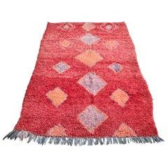 Vintage Red Moroccan Middle Atlas Rug