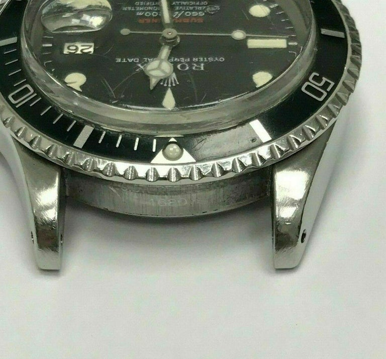 Vintage Red Rolex Submariner 1680 Original Dial Complete Box & Papers, 1970 For Sale 1