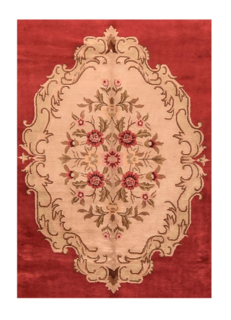 The Savonnerie got it's start when Henri IV (King of France from 1589-1610) became alarmed by how rapidly the national treasury was being depleted by the importation of Oriental rugs and luxury textiles from the east to satisfy the growing appetite