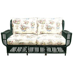 Vintage Reed Sofa 1920s American Stick Wicker