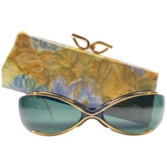 "Vintage Renauld of France 1965 "" The Bikini "" Gold Spectaculars Sunglasses"