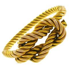 Vintage Rene Boivin 18k Yellow Gold Bangle Bracelet