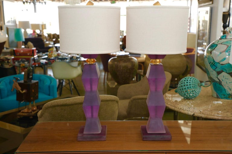 American Vintage Resin Lamps For Sale