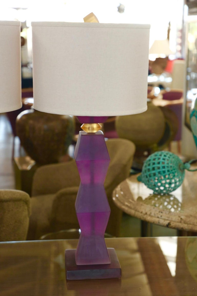 Machine-Made Vintage Resin Lamps For Sale