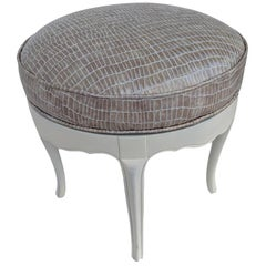 Vintage Restored Hollywood Regency Style Ottoman with Swivel