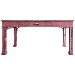 Vintage Restored Palm Beach Regency Desk Writing Table
