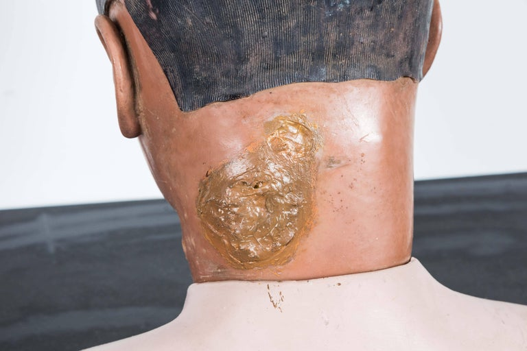 Rubber Vintage Resuscitation Male Dummy Training Head For Sale