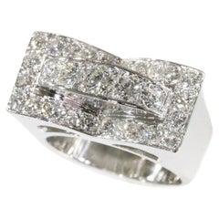 Vintage Retro 2.26 Carat Diamond Platinum Engagement Ring, 1950s