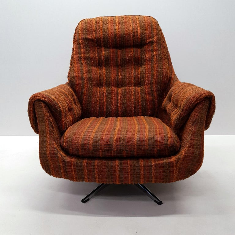Vintage Retro Swivel Egg Lounge Chair 1970s For Sale At