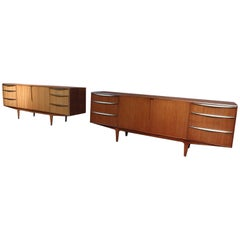 Vintage Retro Teak Brass Handles Sideboard by Tom Robertson for McIntosh, 1960s