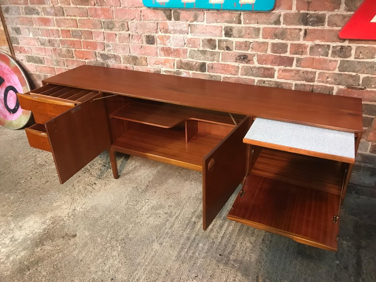 Vintage Retro Teak Sideboard Round Handles by Tom Robertson for McIntosh, 1960s For Sale 1