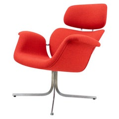 Vintage Reupholstered Pierre Paulin Big Tulip Chair, for Artifort, 1960s