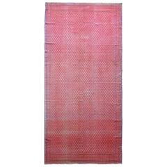 Vintage Reversible Saveh Kilim Rug