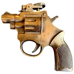 Vintage Revolver Handgun Lighter