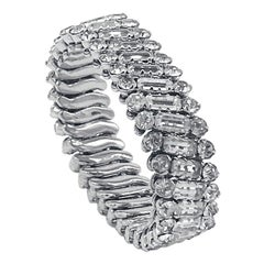 Vintage, Rhinestone Expandable Fancy Bracelet