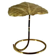 Vintage Rhubarb Leaf Table Lamp by Tommaso Barbi, 1970s