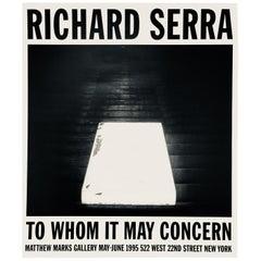 Vintage Richard Serra Exhibit Poster
