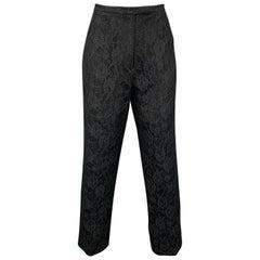 Vintage RICHARD TYLER Size 10 Black Lace Wool Blend Evening Dress Pants
