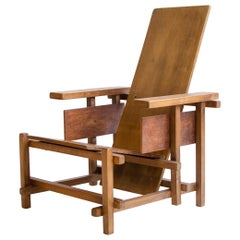 Vintage Rietveld Prototype Wood Chair, Circa 1932, Netherlands