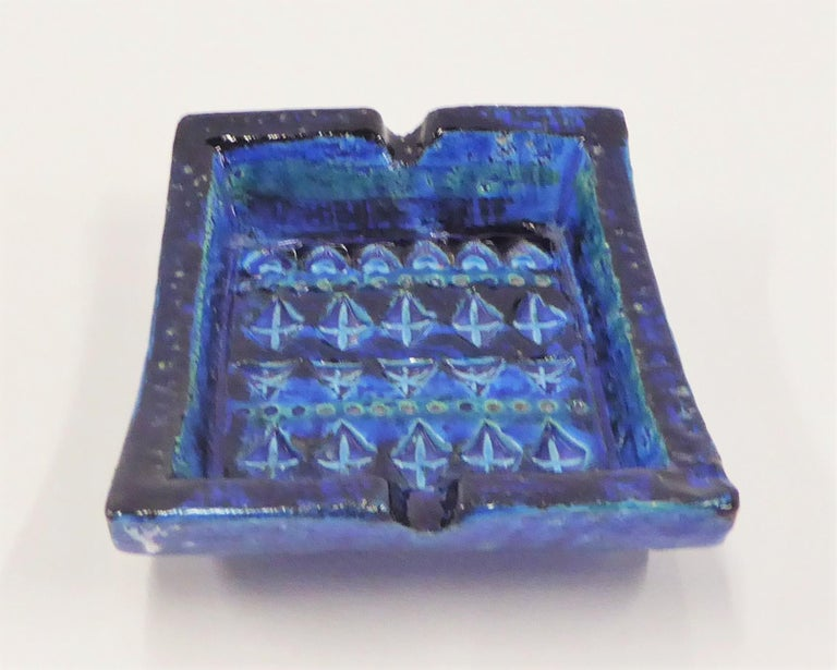 Mid-Century Modern Vintage Rimini Blue Ashtray Catch All by Aldo Londi for Bitosi, 1970s For Sale