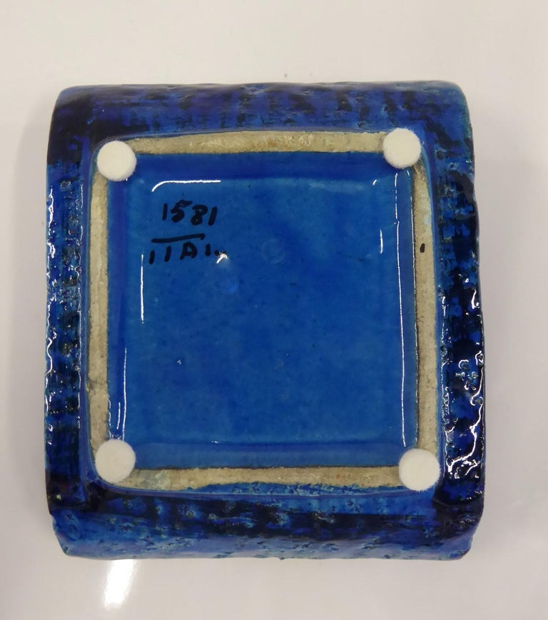 Late 20th Century Vintage Rimini Blue Ashtray Catch All by Aldo Londi for Bitosi, 1970s For Sale