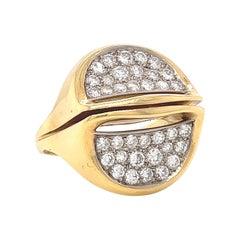 Vintage Ring Diamond 18 Karat Gold Ring