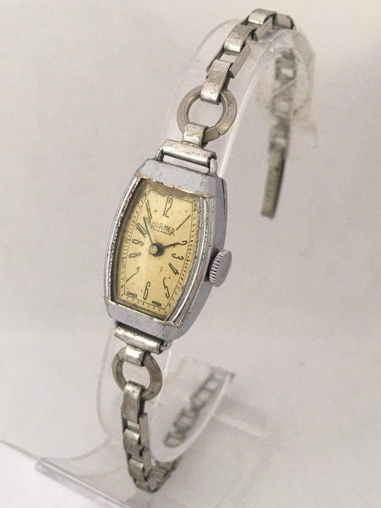 Vintage Roamer Ladies Mechanical Watch In Good Condition For Sale In Carlisle, GB