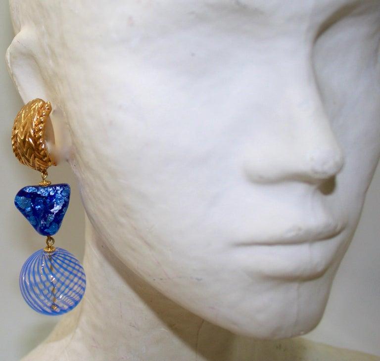 Vintage Robert Goossens for Yves Saint Laurent Rive Gauche Earrings  In Excellent Condition For Sale In Virginia Beach, VA