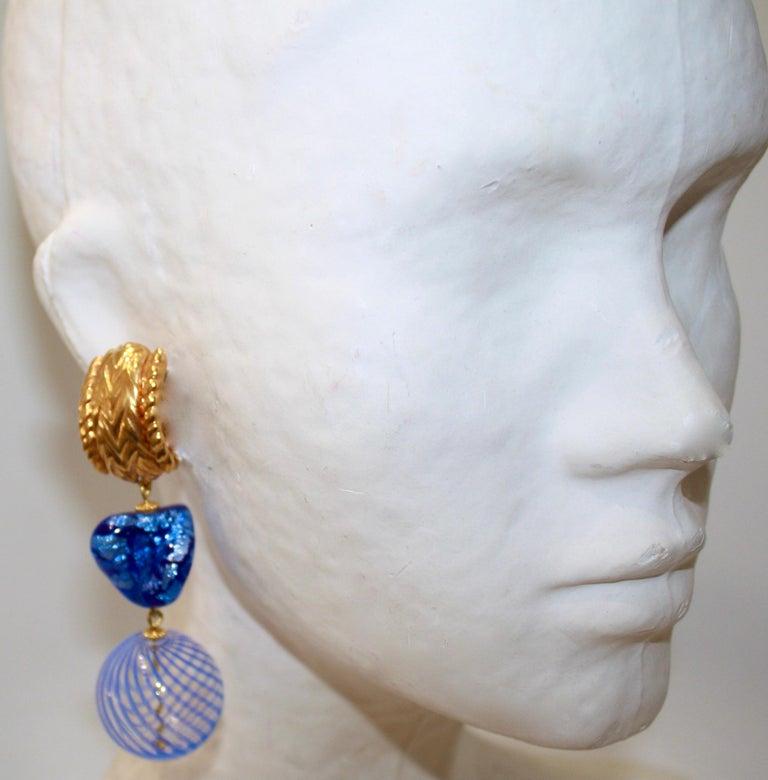 Women's or Men's Vintage Robert Goossens for Yves Saint Laurent Rive Gauche Earrings  For Sale