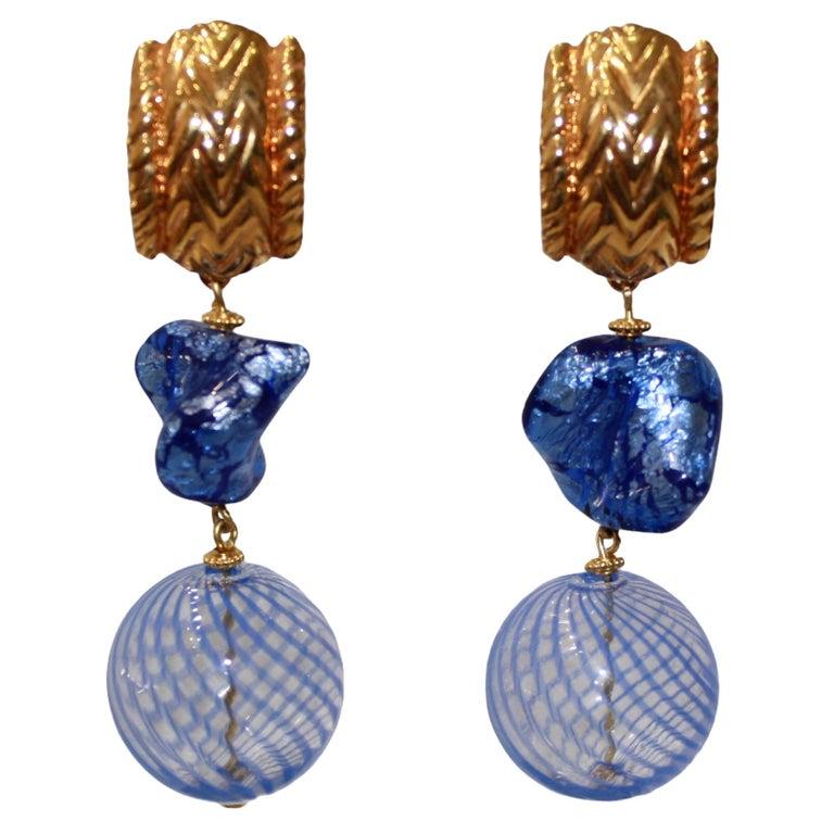 Vintage Robert Goossens for Yves Saint Laurent Rive Gauche Earrings  For Sale