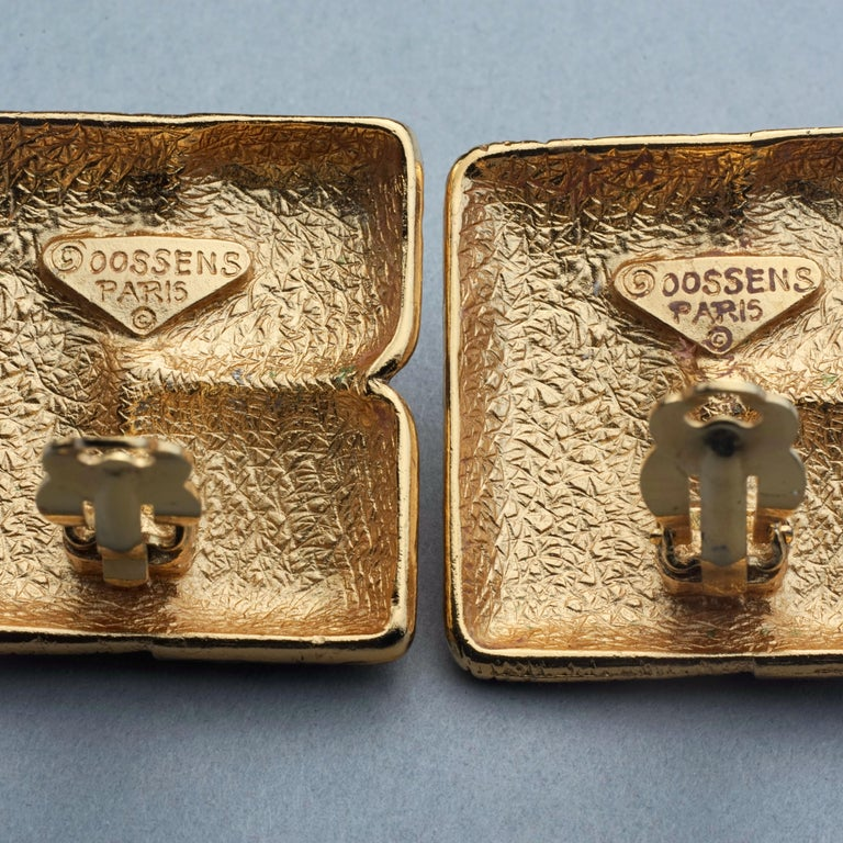 Vintage ROBERT GOOSSENS Mondrian Cubism Earrings For Sale 6