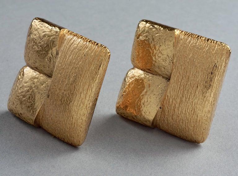 Women's Vintage ROBERT GOOSSENS Mondrian Cubism Earrings For Sale