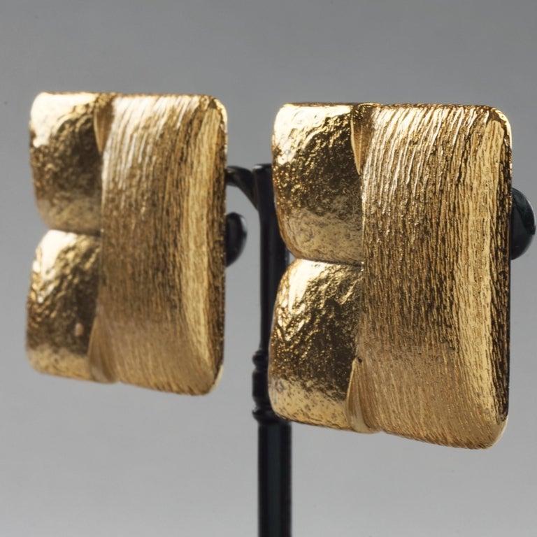 Vintage ROBERT GOOSSENS Mondrian Cubism Earrings For Sale 1