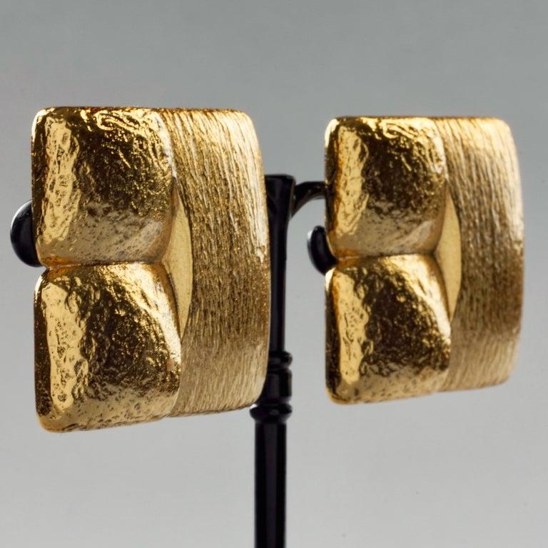 Vintage ROBERT GOOSSENS Mondrian Cubism Earrings For Sale 3
