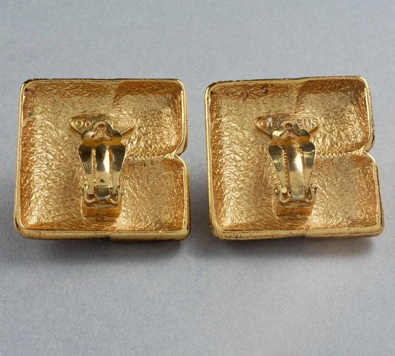 Vintage ROBERT GOOSSENS Mondrian Cubism Earrings For Sale 5